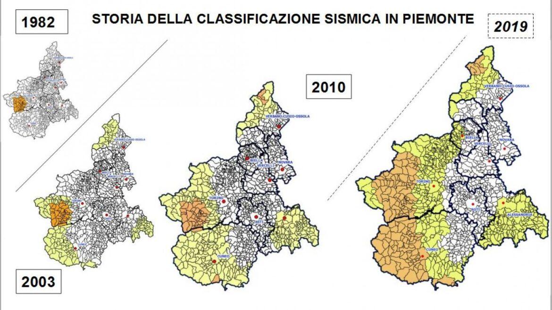 Classificazione sismica provincia torino